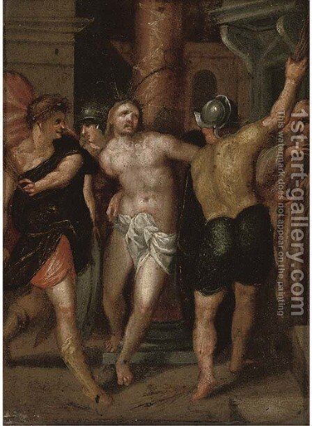 The Flagellation by (after) Bartholomaeus Spranger - Reproduction Oil Painting