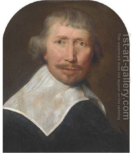 Portrait of a gentleman by (after) Bartholomeus Van Der Helst - Reproduction Oil Painting