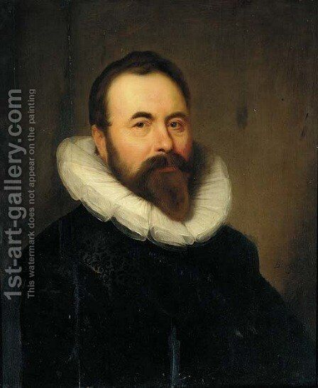 Portrait of a gentleman 2 by (after) Bartholomeus Van Der Helst - Reproduction Oil Painting