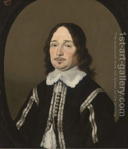 Portrait of a gentleman 4 by (after) Bartholomeus Van Der Helst - Reproduction Oil Painting