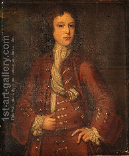 Portrait of a young Man by (after) Bartholomew Dandridge - Reproduction Oil Painting
