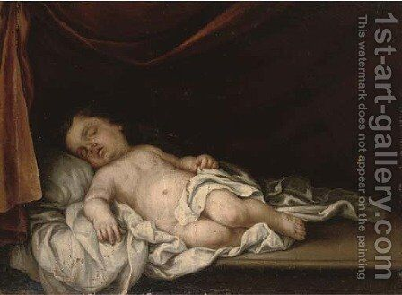 The Sleeping Christ Child by (after) Murillo, Bartolome Esteban - Reproduction Oil Painting