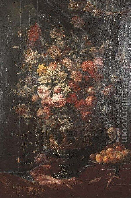 Still life by (after) Bartolommeo Bimbi - Reproduction Oil Painting