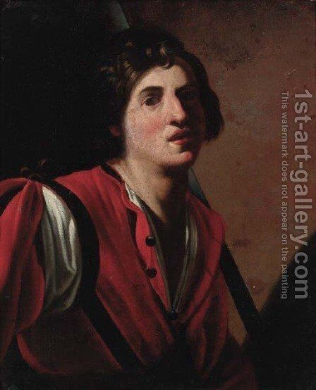 A young man by (after) Bartolomeo Manfredi - Reproduction Oil Painting