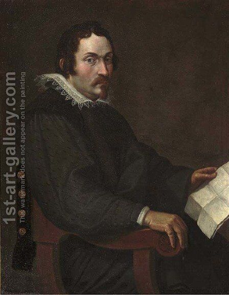 Portrait of a gentleman by (after) Bartolomeo Passerotti - Reproduction Oil Painting