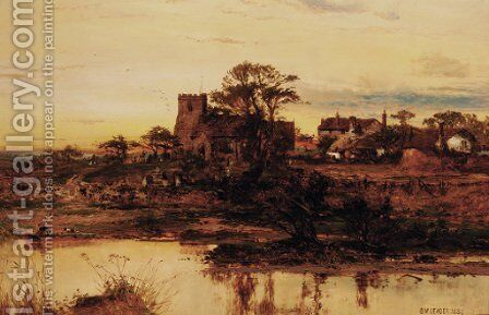 Goring on Thames by (after) Benjamin Williams Leader - Reproduction Oil Painting