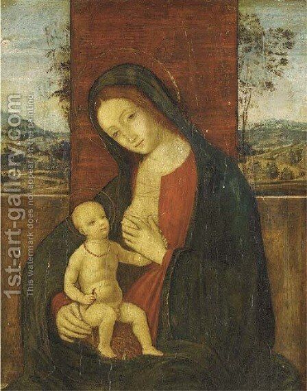The Madonna and Child by (after) Bernardino Di Betto (Pinturicchio) - Reproduction Oil Painting