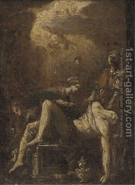Saint Sebastian by (after) Carlo Carlone - Reproduction Oil Painting