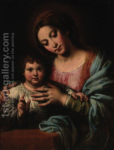 The Madonna and Child by (after) Carlo Ceresa - Reproduction Oil Painting
