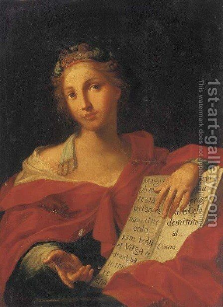 A sibyl by (after) Carlo Cignani - Reproduction Oil Painting