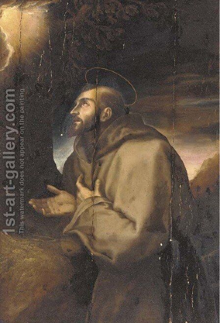 Saint Francis by (after) Carlo Dolci - Reproduction Oil Painting