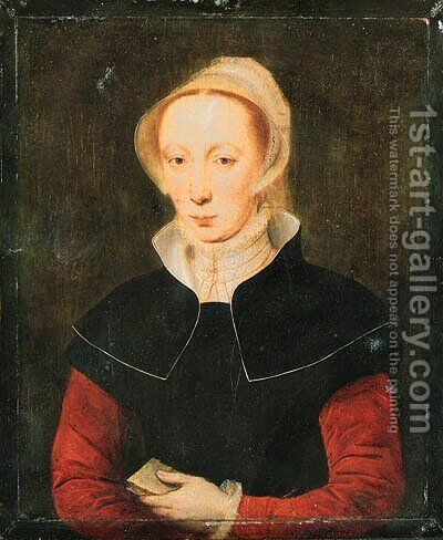 Portrait of a lady by (after) Katharina Van Hemessen - Reproduction Oil Painting