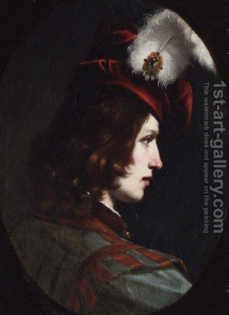 Portrait of a young man by (after) Cesare Dandini - Reproduction Oil Painting