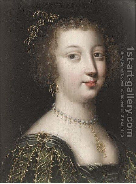 Portrait of a lady 2 by (after) Charles Beaubrun - Reproduction Oil Painting