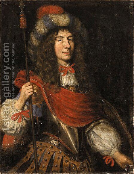Portrait of a Nobleman by (after) Charles Beaubrun - Reproduction Oil Painting