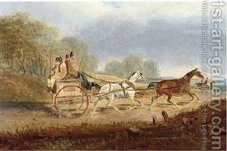 A trot through the countryside by (after) Charles Cooper Henderson - Reproduction Oil Painting