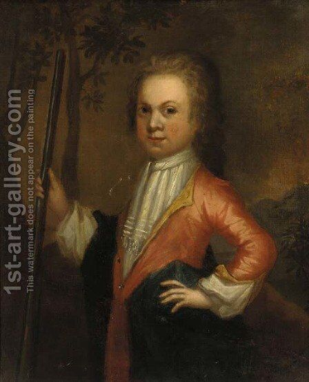 Portrait of a boy 2 by (after) Charles D'Agar - Reproduction Oil Painting