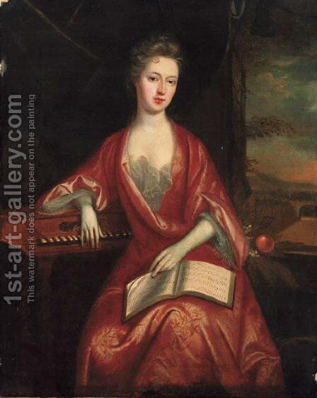 Portrait of a lady by (after) Charles D'Agar - Reproduction Oil Painting