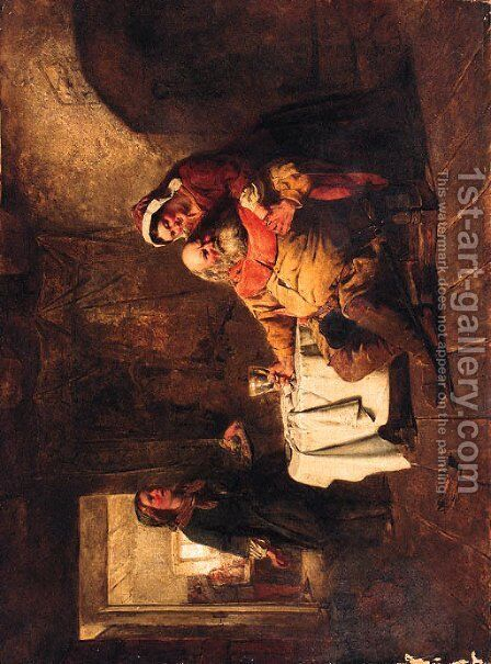 Falstaff in a Tavern by (after) Charles Landseer - Reproduction Oil Painting