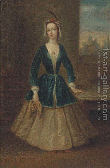 Portrait of Selina Shirley (1707-1791) by (after) Charles Philips - Reproduction Oil Painting