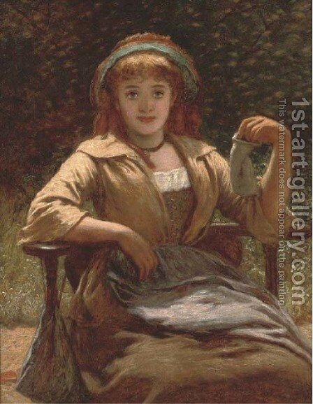 The empty purse by (after) Charles Sillem Lidderdale - Reproduction Oil Painting