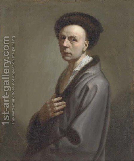 Portrait of a gentleman by (after) Christian Seybold - Reproduction Oil Painting