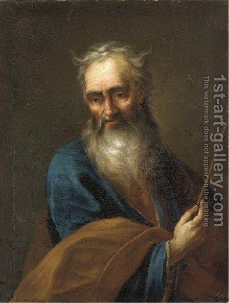 Saint Joseph by (after) Christian Wilhelm Ernst Dietrich - Reproduction Oil Painting