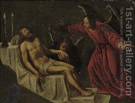 The Lamentation by (after) Claudio Ridolfi - Reproduction Oil Painting
