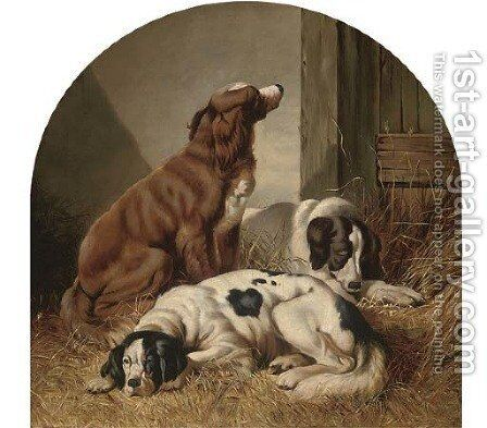 Waiting for the master by (after) Colin Graeme Roe - Reproduction Oil Painting