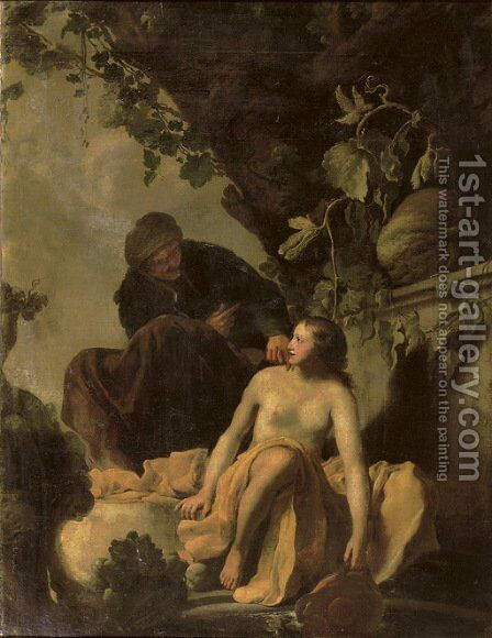 Vertumnus and Pomona by (after) Cornelis Holsteyn - Reproduction Oil Painting