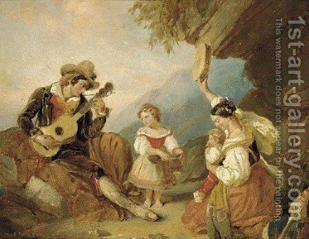 A merry tune by (after) Cornelis Kruseman - Reproduction Oil Painting