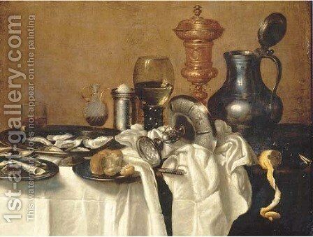 Oysters by (after) Cornelis Mahu - Reproduction Oil Painting
