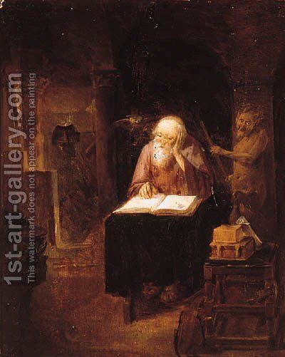 The Temptation of Saint Anthony by (after) Cornelis Saftleven - Reproduction Oil Painting