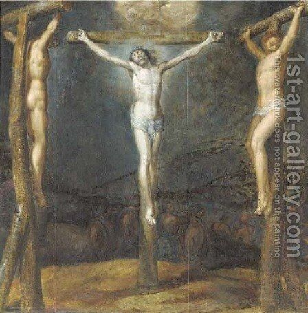 The Crucifixion by (after) Cornelius I Schut - Reproduction Oil Painting
