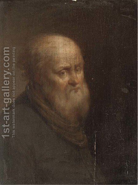 Portrait of an old man by (after) Cornelis Van Poelenburgh - Reproduction Oil Painting