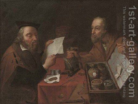 The Money Lenders by (after) Crijn Hendricksz. Volmarijn - Reproduction Oil Painting