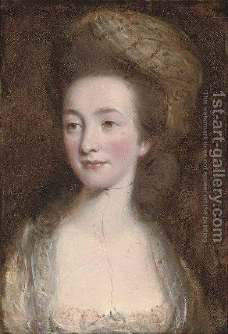Portrait of Elizabeth Elstone by (after) Daniel Gardner - Reproduction Oil Painting
