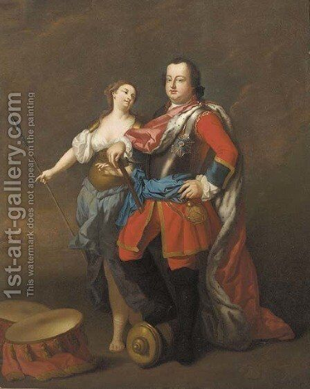 Portrait of William Augustus, Duke of Cumberland (1721-1765) by (after) David Morier - Reproduction Oil Painting