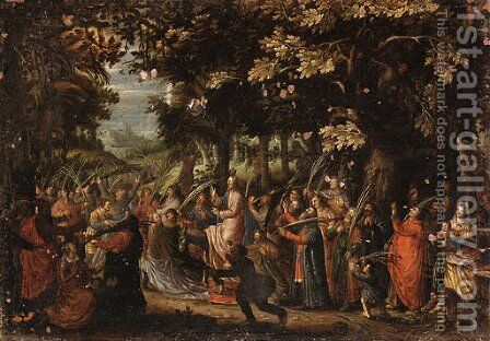 Christ's Entry into Jerusalem by (after) David Vinckboons - Reproduction Oil Painting