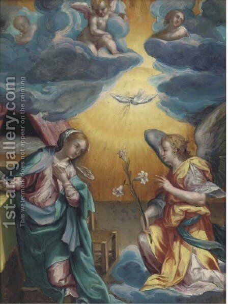 The Annunciation 2 by (after) Denys Calvaert - Reproduction Oil Painting