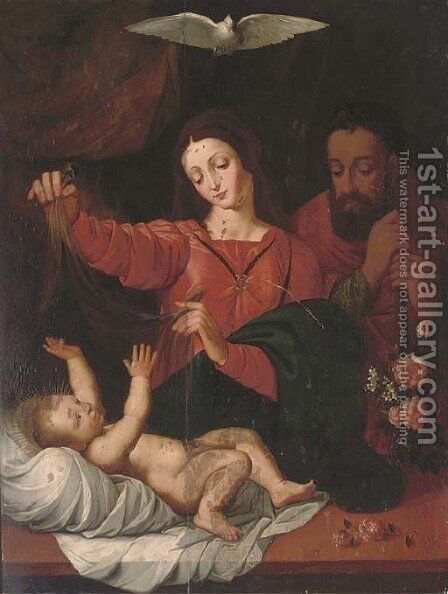 The Holy Family 2 by (after) Denys Calvaert - Reproduction Oil Painting