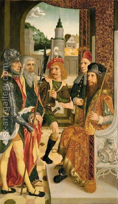 Christ before Pilate by (after) Derick Baegert Wasel - Reproduction Oil Painting