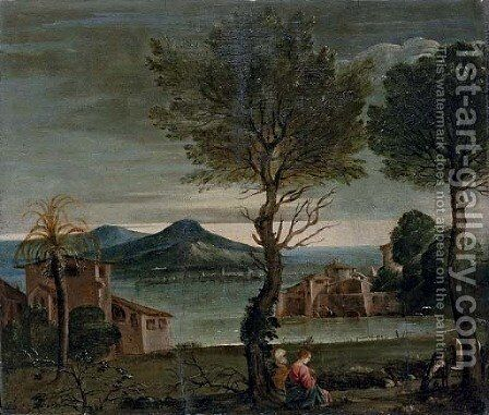 The Rest on the Flight into Eygpt by (after) Domenichino (Domenico Zampieri) - Reproduction Oil Painting