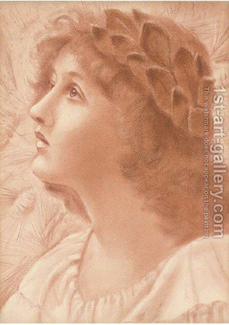 Hope by (after) Edward Robert Hughes - Reproduction Oil Painting