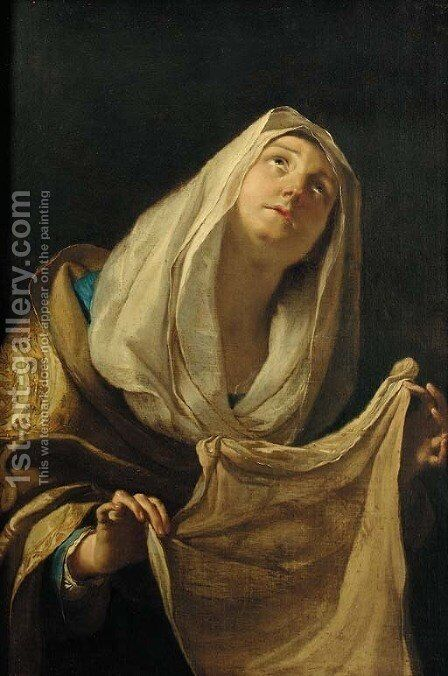 Saint Veronica by (after) Elisabetta Sirani - Reproduction Oil Painting