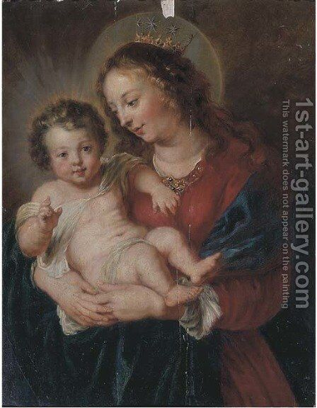 The Virgin and Child by (after) Erasmus II Quellin (Quellinus) - Reproduction Oil Painting