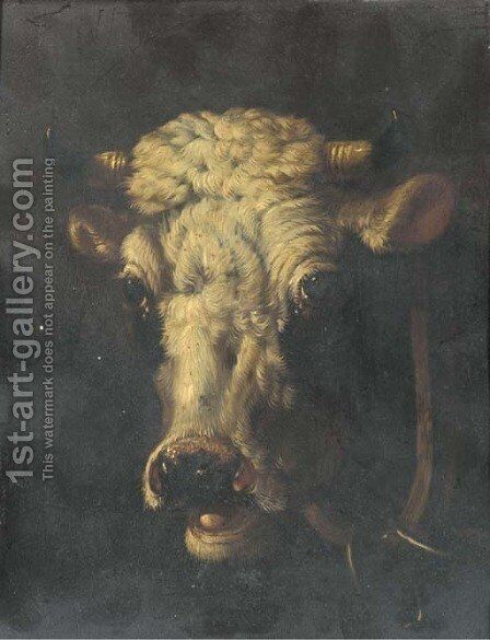 Studies of cattle by (after) Eugene Joseph Verboeckhoven - Reproduction Oil Painting