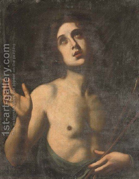 Saint Sebastian by (after) Felice Ficherelli - Reproduction Oil Painting