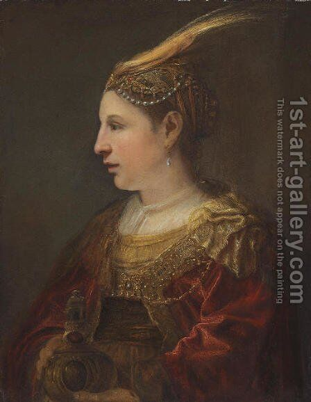 Portrait of a lady as Mary Magdalene by (after) Ferdinand Bol Dordrecht - Reproduction Oil Painting