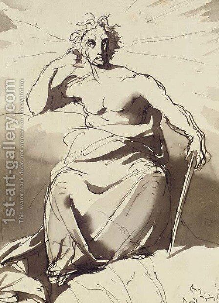 Jupiter by (after) Eugene Delacroix - Reproduction Oil Painting